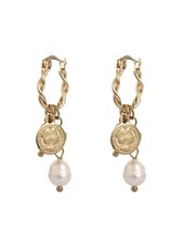 Earrings - Coin Pearl Party