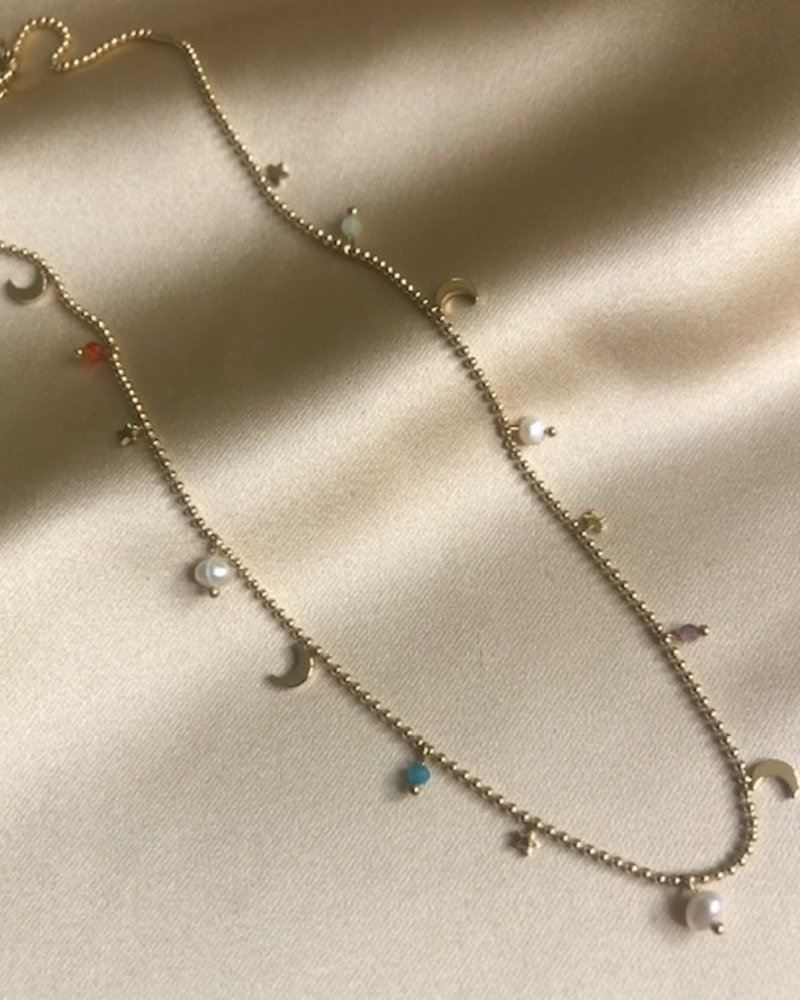 Necklace - Little Moons And Stars