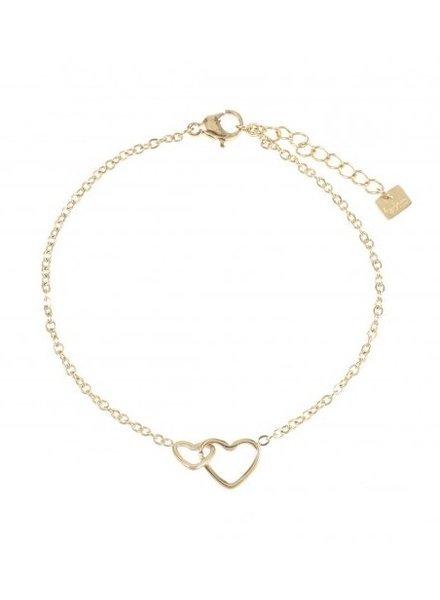 Bracelet - Double Heart