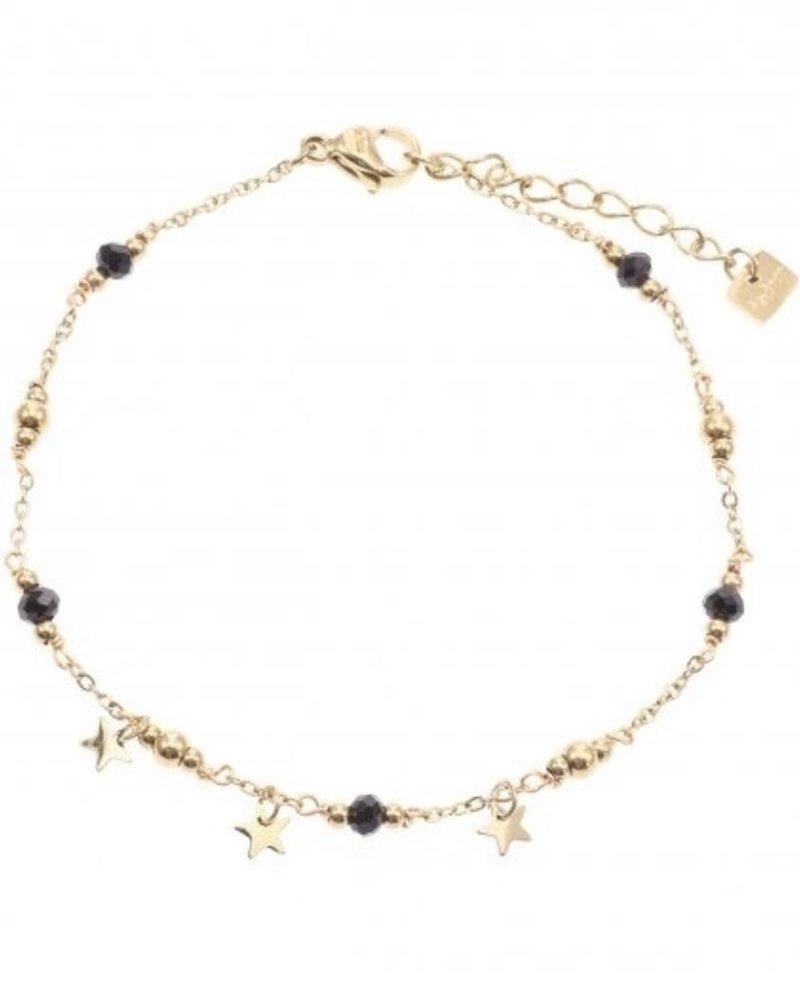 Bracelet - Black Dots With Stars