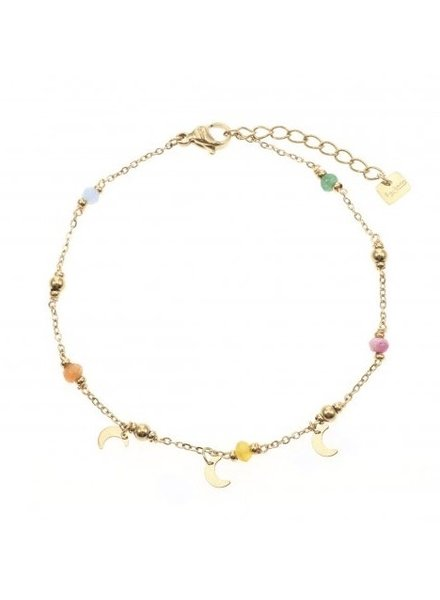 Bracelet - Color Beads With Moons