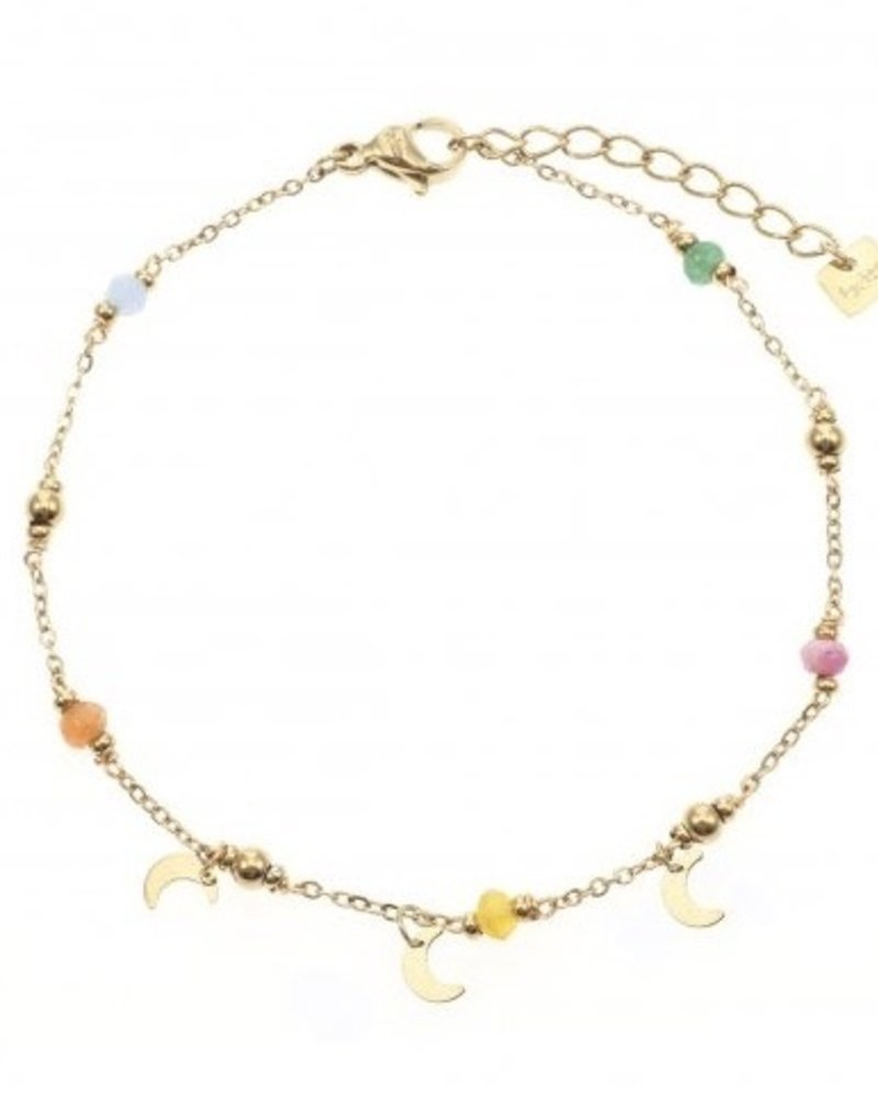Armband - Color Beads With Moons