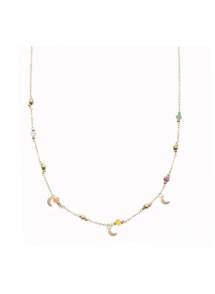 Ketting - Color Beads With Moons
