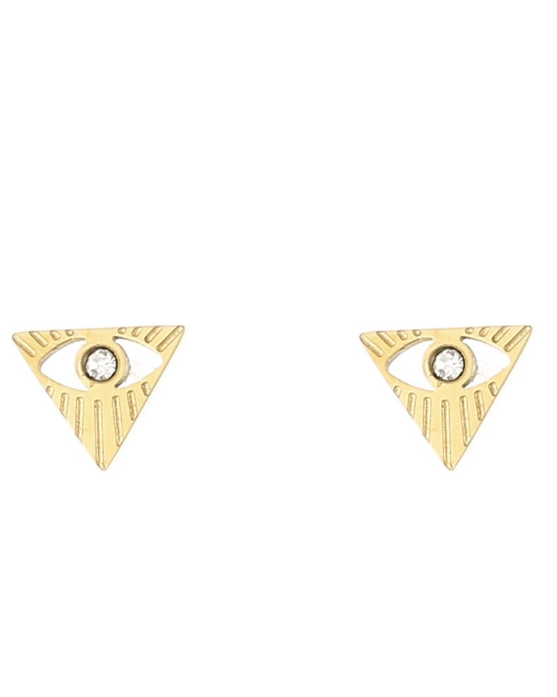 Oorbellen - Eye Triangle Studs