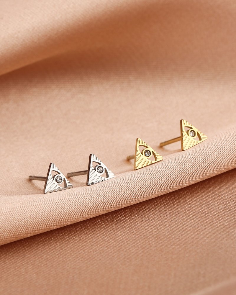 Earrings - Eye Triangle Studs