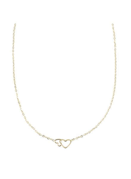 Necklace - Double Heart