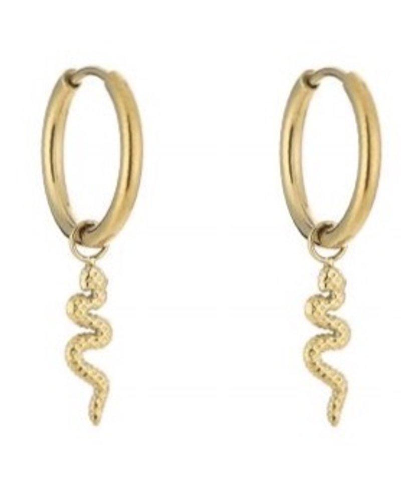 Earrings - Snake