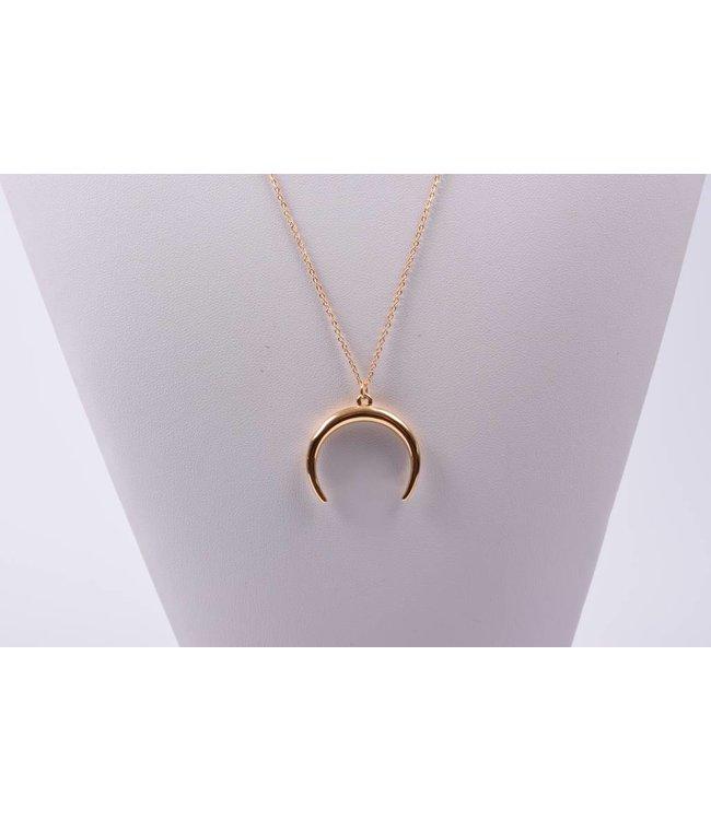 Necklace long half moon