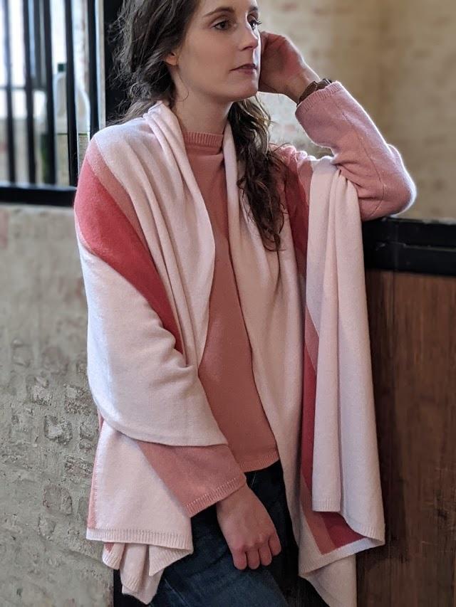 Via Carlotta Cashmere Sjaal CARMEN roze