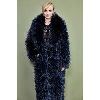Oversized Dark Blue Recycled Coat
