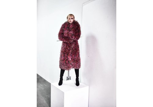 MA RE -ams Oversized Multicolour Recycled Coat