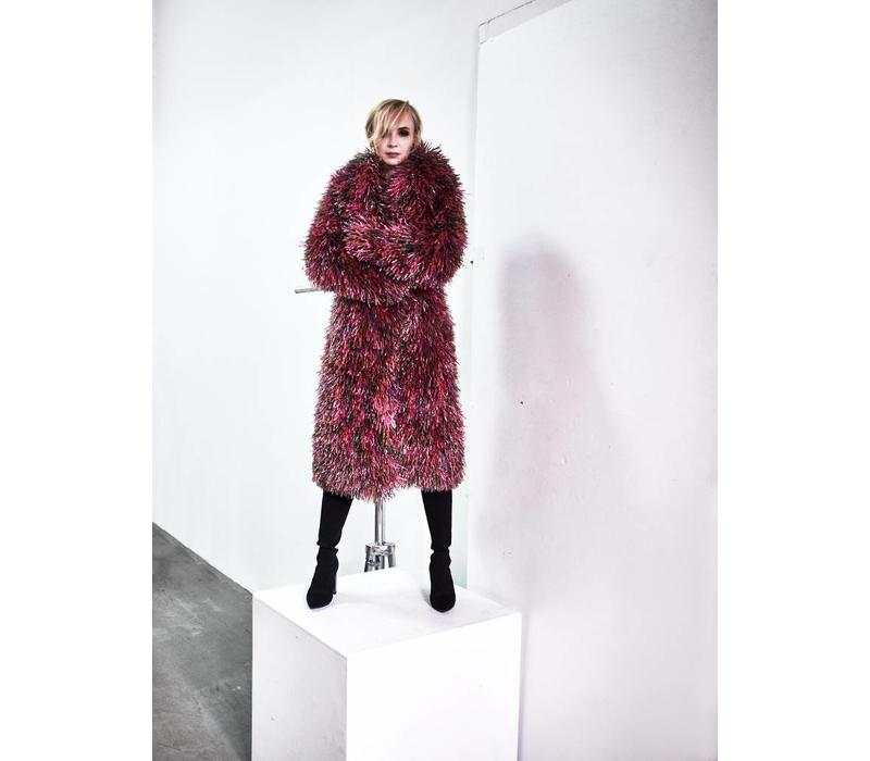 Oversized Multicolour Recycled Coat