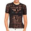 MA RE-ams Devoré Logo T- shirt black