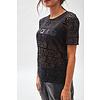 MA RE-ams Devoré Logo T- shirt black satin
