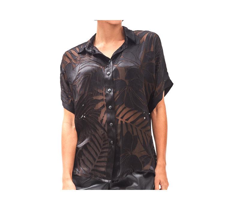 Devore Sheer Shirt  Black