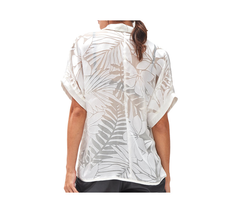Devore Sheer Shirt  White