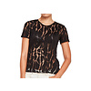 MA RE-ams Devoré  T- shirt black - water print