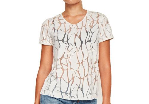 MA RE-ams Devoré  T- shirt white
