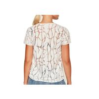 Devoré  T- shirt white - water print