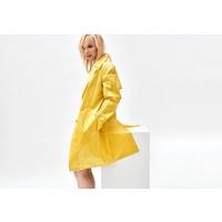 Coated Yellow Trench Coat