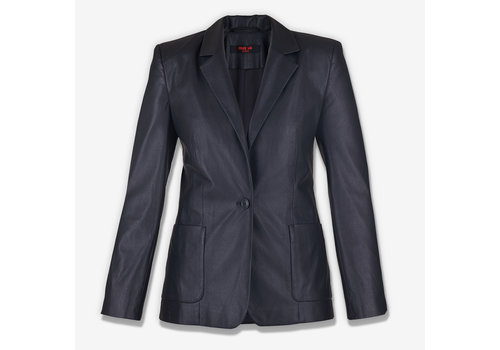 MA RE-ams Black Ecco leather  Blazer