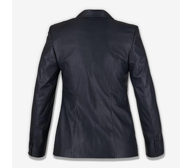 """SECOND LIFE"" Black Ecco leather  Blazer"