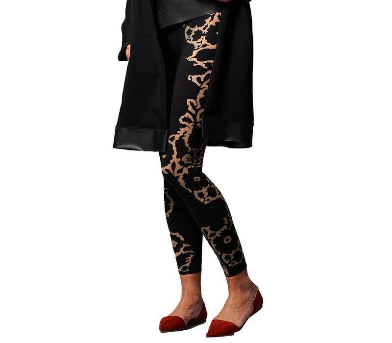 Flower Leggings - black