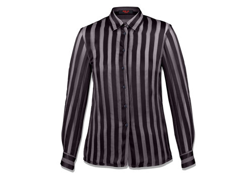 MA RE-ams silk-satin devore shirt