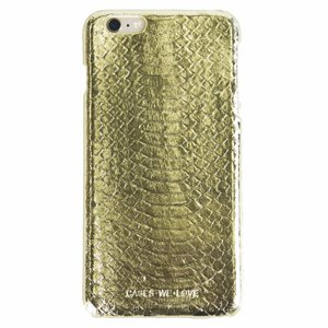 CWL iPhone 6 Plus / 6s Plus Gold Real Snake Skin Leather