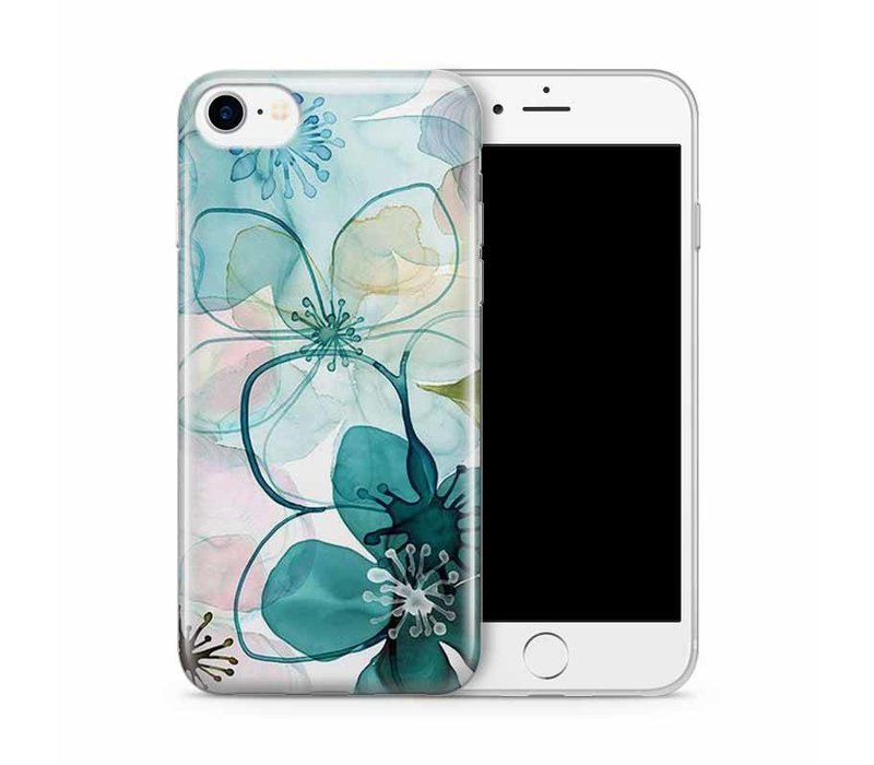 iPhone 7/8 Purple Peony Watercolor