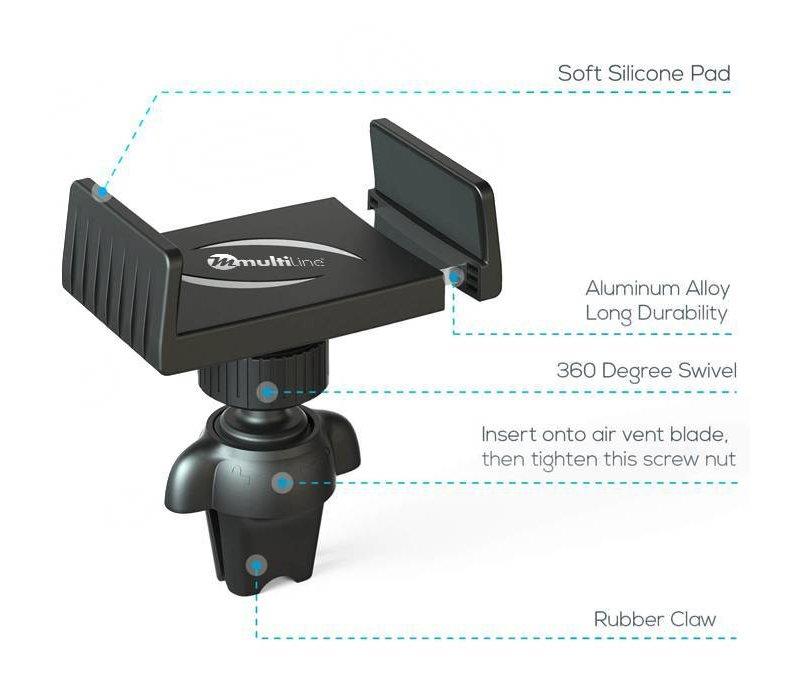 Universal Car Phone Holder (Ventilator attachement)