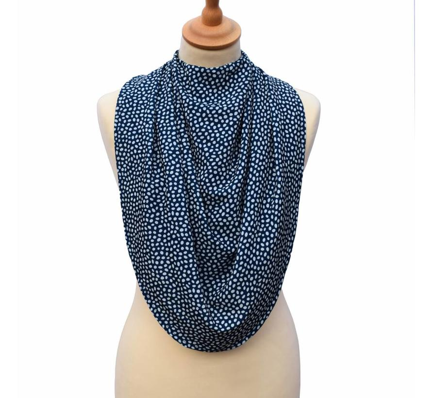 Bibetta Pashmina Sjaal Slab Care Designs Navy Stip