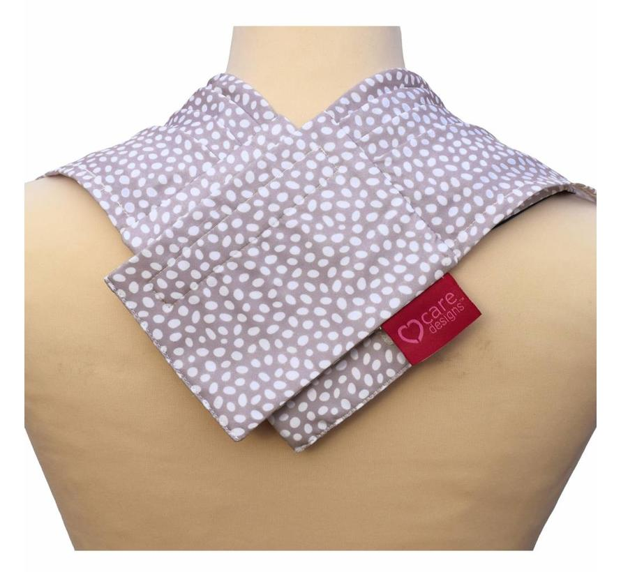 Bibetta Pashmina Sjaal Slab Care Designs Grijze Stip