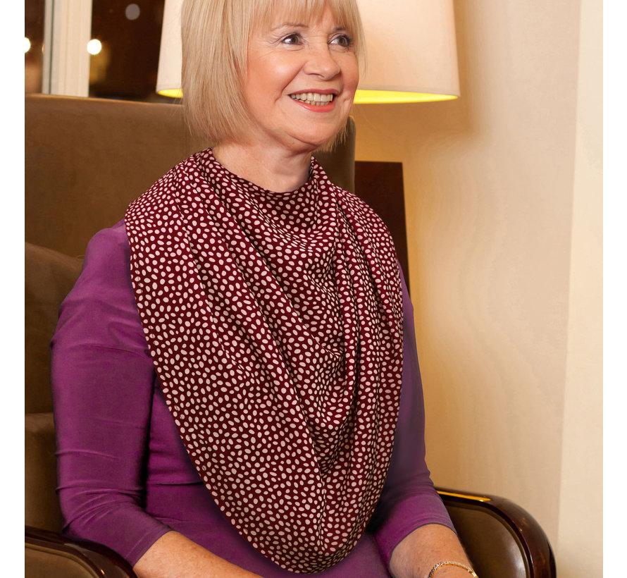 Bibetta Pashmina Sjaal Slab Care Designs Rode Stip