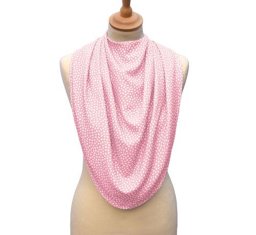Bibetta Care Bibetta Pashmina Sjaal Slab Care Designs Roze Stip