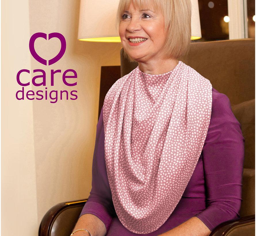 Bibetta Pashmina Sjaal Slab Care Designs Roze Stip