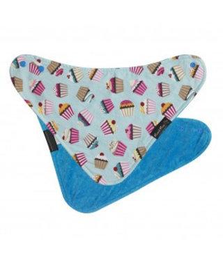 Mum2Mum Fashion Bib Cupcakes Teal