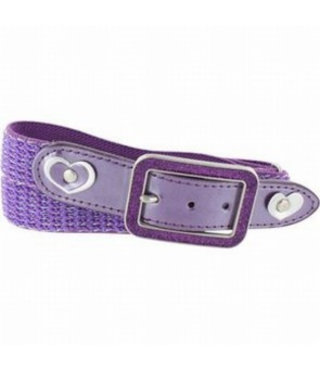 Elastic adjustable children's belt Oxxy Glitter Purple