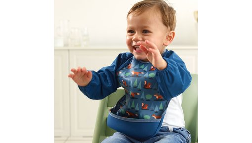 Bibetta sleeve bib, also useful for when your child is going to do crafts