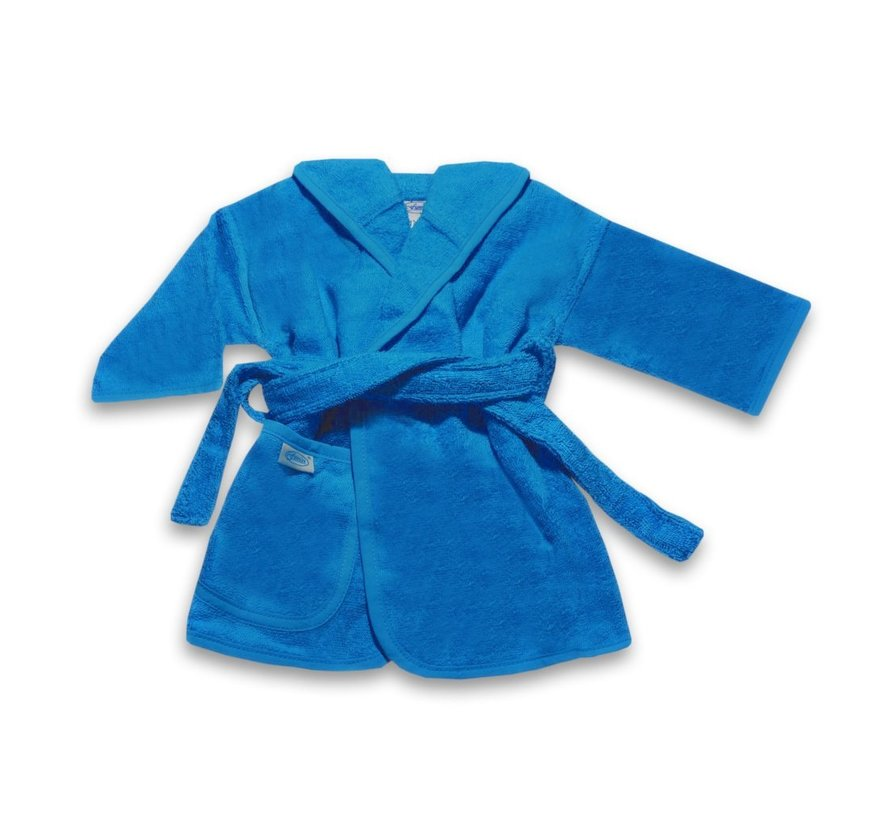 Badjas   blauw/turquoise