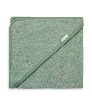 Hooded Towel Stone green