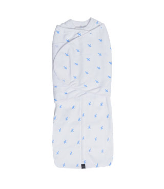 Mum2Mum Dream Swaddle Large Blue Cross