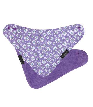Mum2Mum Fashion Bib Purple Daisies Purple