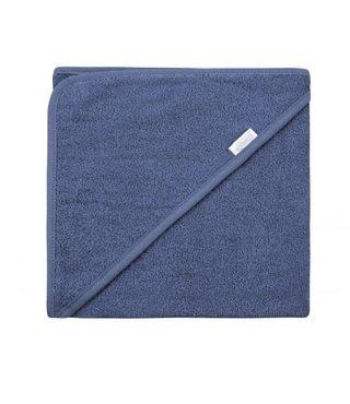 Hooded Towel Silk Blue