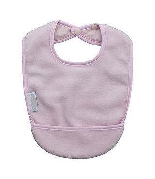 Fleece Pocket Bibs Baby Pink