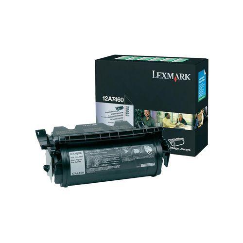 Lexmark Lexmark 12A7460 toner black 5000 pages return (original)