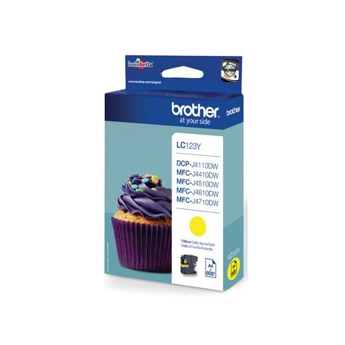 Brother Brother LC-123Y ink yellow 600 pages (original)
