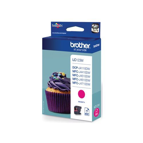 Brother Brother LC-123M ink magenta 600 pages (original)