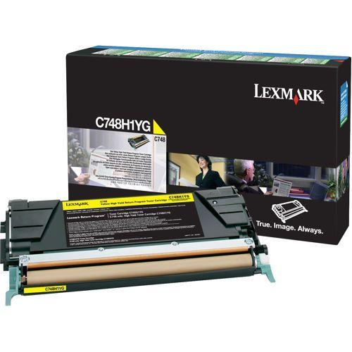 Lexmark Lexmark C748H1YG toner yellow 10000 pages return (original)