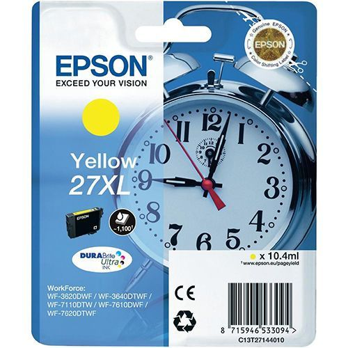 Epson Epson 27XL (C13T27144010) ink yellow 1100 pages (original)
